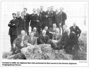 The men of the Highland Glee Club has been singing together for more than 100 years.