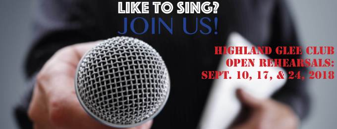 Like to Sing? Sept 2018